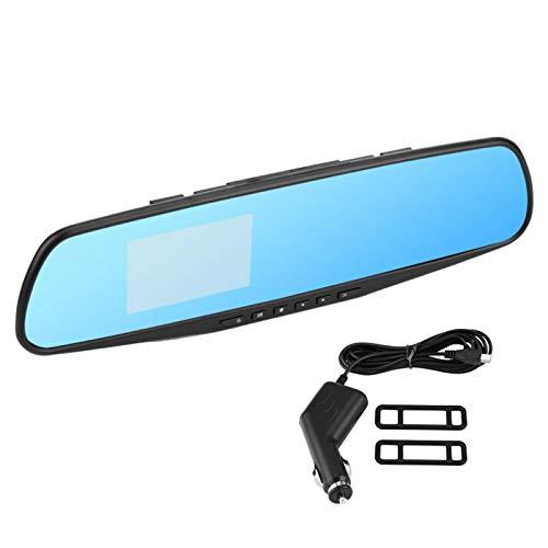 """Dash cam a specchio da 2,8""""per auto con touch screen completo, videocamera di backup impermeabile Videocamera specchietto retrovisore, videoregistratore di guida per visione notturna con rilevamento"""