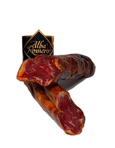 Lomo 100% Ibérico de Bellota ALBA ROMERO | Embutido curado y envasado al vacío | Media pieza de peso aproximado de 0.5 KG
