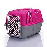 ZGJDX Transporte en el avión Viaje al Aire Libre Práctica Jaula de Transporte de Mascotas Desmontable (Size : Small)