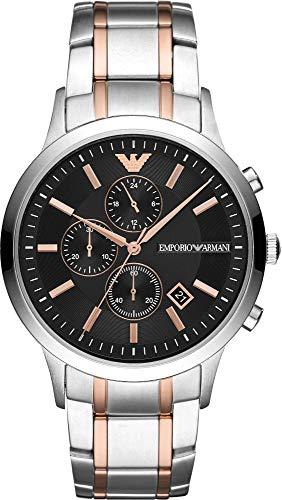 Emporio Armani Herren Chronograph Quarz Uhr mit Edelstahl Armband AR11165