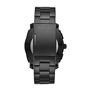 Fossil Q Men's Q Machine Hybrid Watch with Stainless-Steel Strap, Black, 24 (Model: FTW1165)