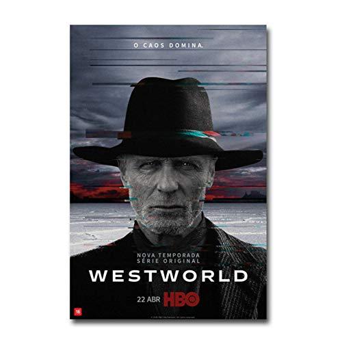 chtshjdtb Westworld Stagione 2 Serie TV Show Wall Art Poster Tela Pittura Stampa Decorazione Domestica -50X70Cm Senza Cornice 1 Pz
