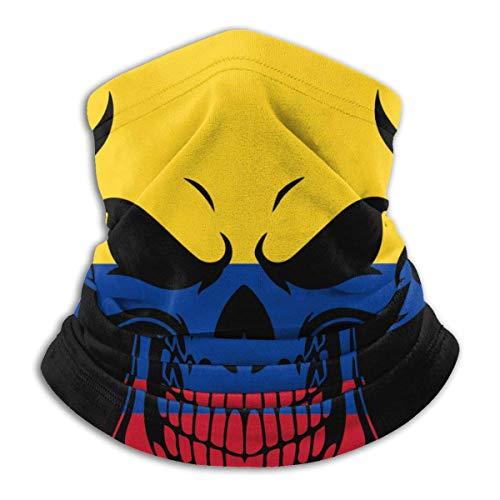 XCNGG Máscara Facial de Calavera con Bandera de Colombia para Hombres y Mujeres, Gorro sin Costuras para esquí y Snowboard