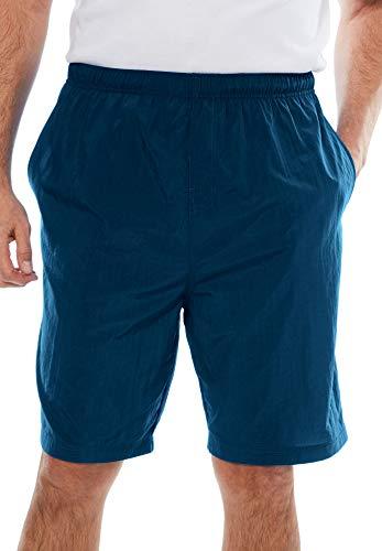 KingSize KS Island Men's Big & Tall Classic Swim Trunks - Big - 4XL, Azure Blue