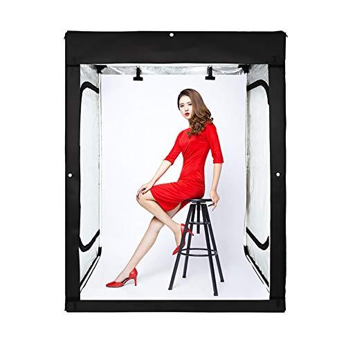 LINLIN Photo Studio, Backdrop Support Stand Kit Zwart/Wit/Blauw Achtergrondscherm 2 m studio set Grote kast type vierkante schuur set 120 * 100 * 200CM