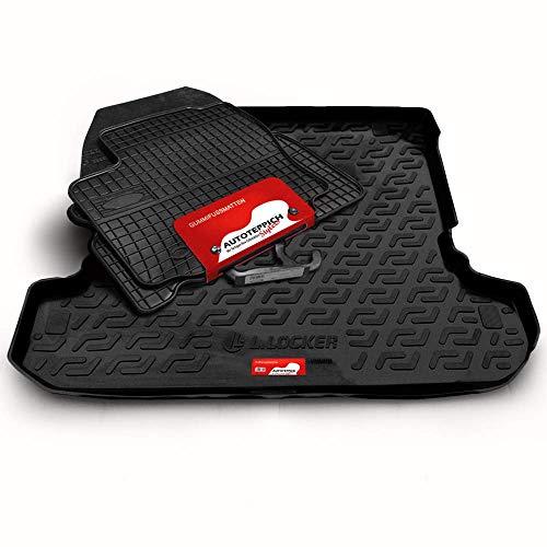 Autoteppich Stylers Gummimatten + Kofferraumwanne (Set) passgenau für ATS_Koffer_Set_08323