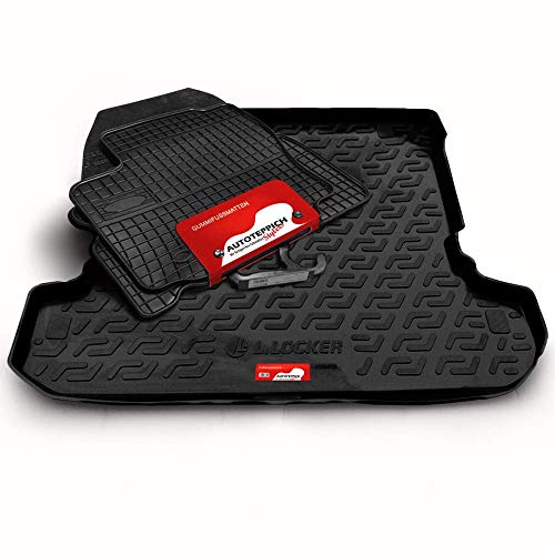 Autoteppich Stylers (Fahrzeug wählbar) Gummifussmatten & Kofferraumwanne Set passend für Zafira B 2005-
