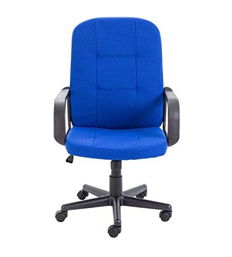 Office Hippo Start Schreibtisch-Stuhl, Stoff, Royal Blau, 60x 61x 102,5cm