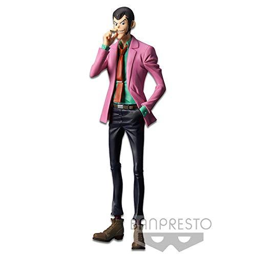 Figura Statua LUPIN con Giacca Rosa e SIGARETTA 26cm Serie MASTER STARS PIECE IV 4 Quattro Parte 5 Originale Lupin III Third BANPRESTO
