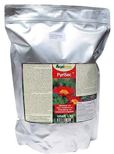PyriSec (1 kg) für Innenräume - Kieselgur/Pyrethrum Kombination - hoch wirksam gegen alle Vogel-Milbenarten, Schaben, Kakerlaken, Wanzen, Ameisen u.a.