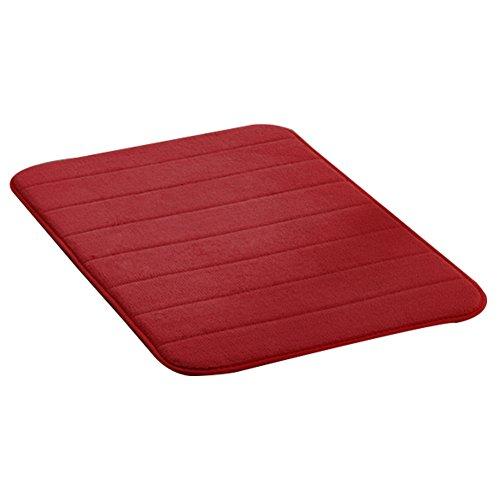 Chen ruitm rutschfest Badezimmer Matte Teppich Verdickte Coral Samt langsam Rebound Memory-Schwamm Teppich keine Verformung (50x80cm, weinrot)