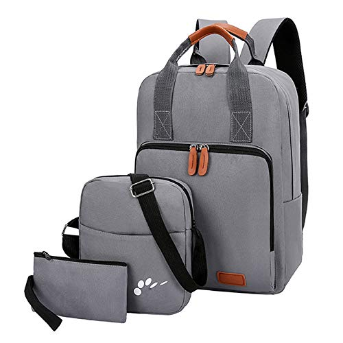 FDQNDXF Business Laptop Backpack, Mens Casual Lightweight 3 Piece Suit Backpacks Business College Computer Rucksack Gym Travel School Bags,Gray