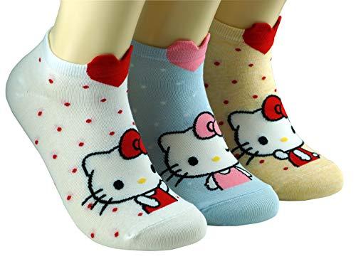 Preisvergleich Produktbild DASOM Frauen Hallo Kitty Socken