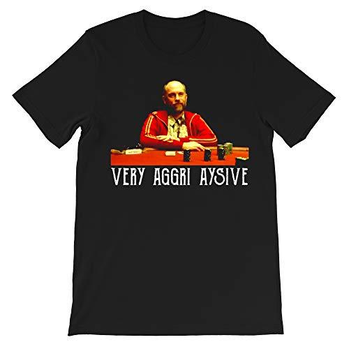 Teddy-KGB Very Aggri Aysive tv Show Movie Humor John Malkovich-Rounders Funny Gift for Men Women Girls Unisex T-Shirt (Black-M)
