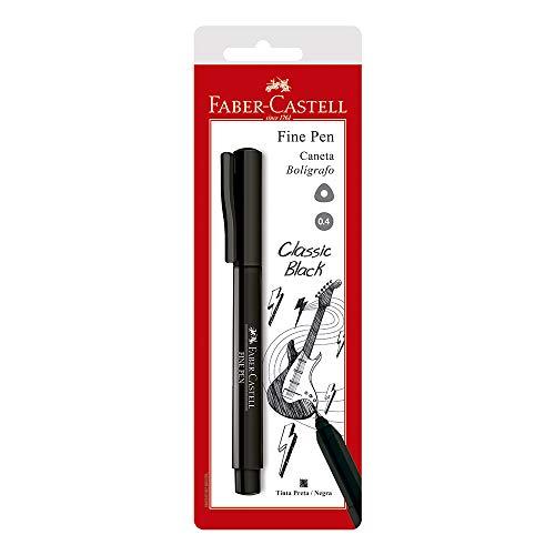 Caneta Ponta Fina, Faber-Castell, Fine Pen, SM/FPBPRZF, Preta