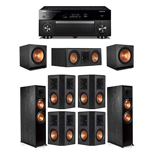Check Out This Klipsch7.2.2 Ebony System - 2 RP-8060FA,1 RP-500C,4 RP-502S,2 SPL-150,1 RX-A1080 Re...