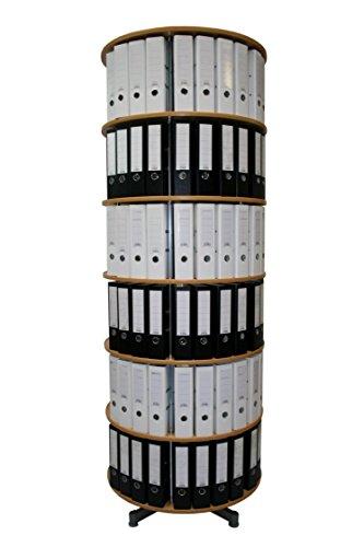 reef R2100BB6 Ordnersäule 100 cm durchmesser, 6 Etagen gesamtdrehbar, buche