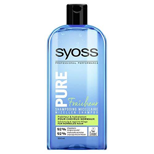 2x Syoss Shampoo Pure Fresh Mizellen Shampoo für normales Haar je 500ml
