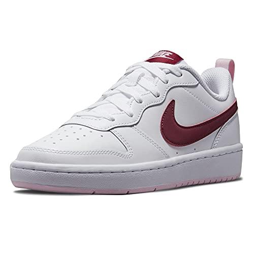 Nike Court Borough Low 2, Scarpe da Basket, Bianco Bordeaux, 40 EU