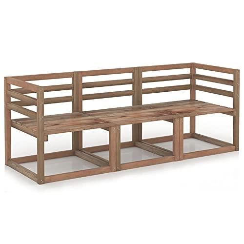 Gawany Juego de sofás de jardín 3 Piezas Sofa de Palets Interior/Exterior Sillon...