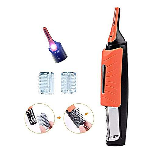 Hombre 2 en 1 Hair Touch Hair Trimmer Razor Dual End Trimmer Clipper Grooming Remover Mango antideslizante con luz LED