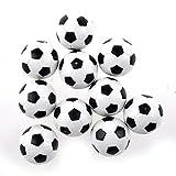 PULABO 6 unidades de futbolín de repuesto Mini plástico negro y blanco fútbol duradero servicio útil