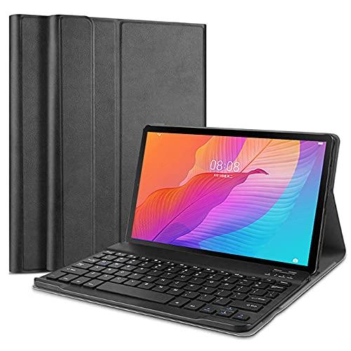 """SsHhUu Funda con Teclado para Huawei MatePad T10s / T10, Keyboard Case Cubierta Delgada, Teclado Inalámbrico Desmontable para Huawei Matepad T10S 10.1"""" / Matepad T10 9.7 Pulgadas, Negro"""