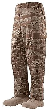 Camo Distributors Military Men s 100% Cotton Rip Stop BDU Cargo Pants Made in USA  Medium Short Desert Tiger Stripe