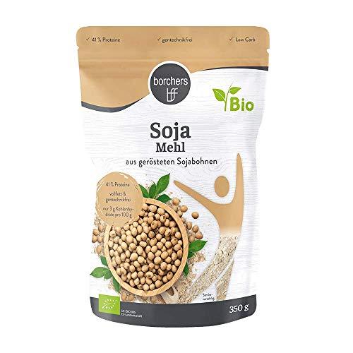 2 x borchers Harina de soja premium ecológica, vegetariana y