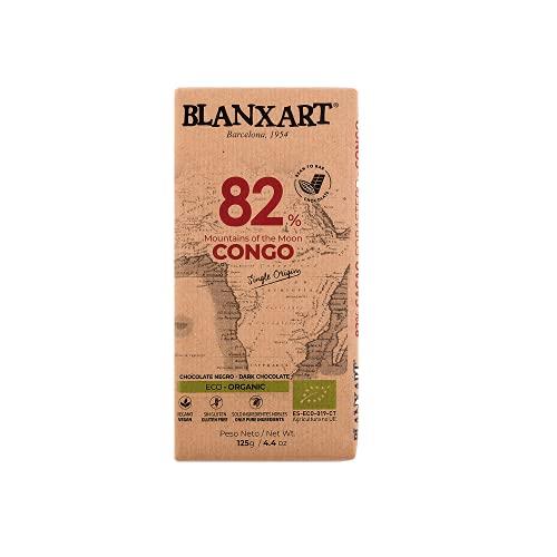 Blanxart Tableta de Chocolate Negro Ecológico - Congo 82% Cacao 1 Unidad 125 g