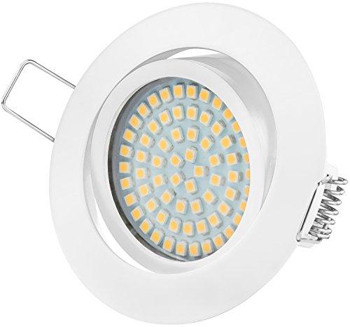 Ultra Piatto LED Faretto ad Incasso   Tolles Design   Bianco Caldo - Bianco Freddo   3.5W 230V   Illuminazione ad Incasso (Bianco Caldo)