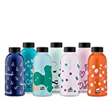 MamaWata Borraccia Termica per l'Acqua | Bottiglia Thermos In Acciaio Inox senza BPA 470ml | A Tenuta Stagna | 24 Ore Freddo 12 Ore Caldo - Red