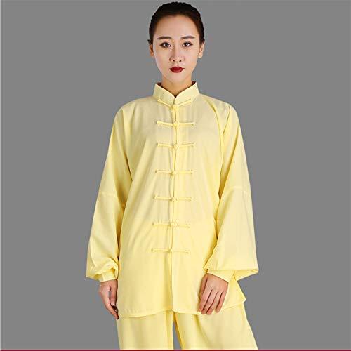 BAJIE Clásico Chino ala Chun Kung Fu Uniforme Algodón Seda Marcial Letras Tai Chi Trajes Tradicional Tai Chi Ropa (Color : Y, Size : XS)
