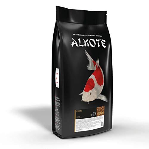 AL-KO-TE, 1-Jahreszeitenfutter für Kois und Zierfische, Sommermonate, Schwimmende Pellets, 6 mm, Basisfutter Prime, 9 kg