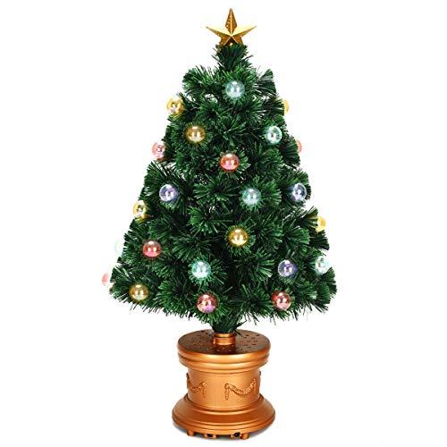 7DIPT Pre-Lit Fiber Optical Firework Christmas Tree (3')
