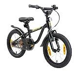 LÖWENRAD Bicicleta Infantil para niños y niñas a Partir de 4-5 años | Bici 16' Pulgadas con Frenos | Negro