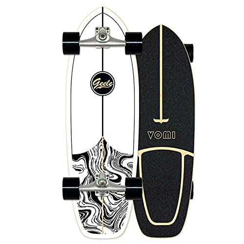 Surfskate Carving Skateboard Monopatín Pumpping surf simulado CX4, Arce tablero 78×24cm, Rodamientos ABEC-11, Superficie antideslizante, Ruedas 70×51mm, para Adolescentes Principiantes Adultos,A