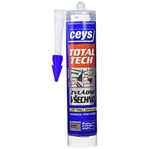 41MERKuPPXL. SS300  - Ceys Total Tech - Adhesivo (cartucho 290 ml) color transparente