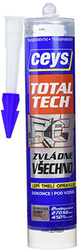 Ceys Total Tech - Adhesivo (cartucho 290 ml) color transparente