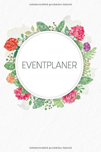 Eventplaner: Gepunktetes Notizbuch zum Planen deiner Parties und Events | Motiv: Aquarellblumen