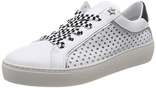 Tommy Hilfiger Damen Iconic Star Sneaker, Weiß (White 100), 38 EU