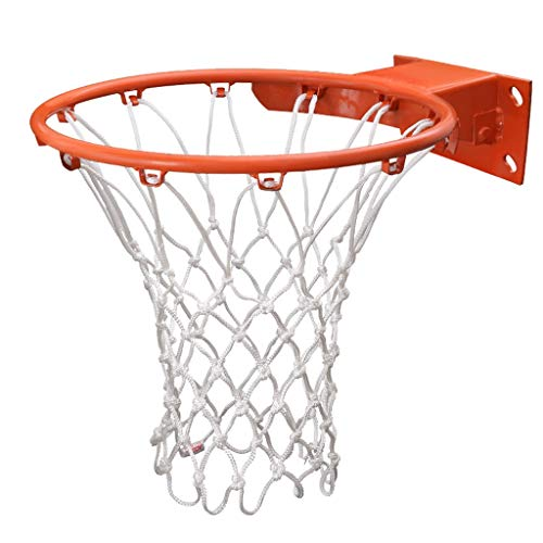 LIULU Standard Basketball-Netz for Indoor- und Outdoor-Basketball Stand 12 Buckle 21 Zoll White 2 Stück (kein Basketball-Feld) (Color : White, Größe : 200g/Pc)