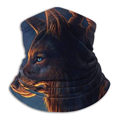 KDU Fashion Hoofdband, wolf met sterrenhemel hoofdband, comfortabele 12-in-1 hoofdband voor wandelen, jagen, motorrijden