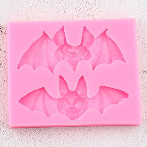 ZPZZPY 3D Craft Halloween Silikonformen DIY KuchenDekorierenFondant Schimmel Kuchen Backen CandyClay Schokoladen Gumpaste Formen
