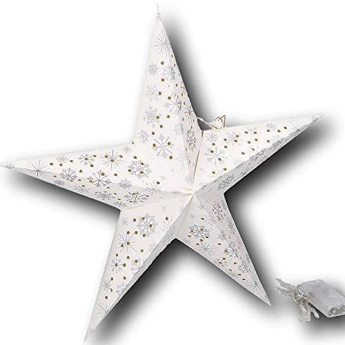 UrbanDesign 3D ster LED verlicht met 10 LED's 40cm diameter kerstster venster decoratie verlichting kerst werkt op batterijen