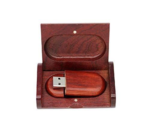 Anloter - Chiavetta USB 2.0 da 4 GB in legno, unità a penna singola (4 GB, USB2.0)