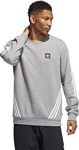 adidas Insley Crew Sweatshirt für Herren M Grau (Brebas) / Weiß