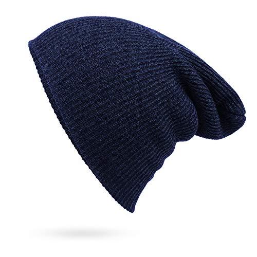Gorro de invierno para hombre, diseño de rayas de punto de hip-hop, lana cálida, termoelástica, tamaño universal, para correr, esquiar y montar a caballo, sombrero de punto