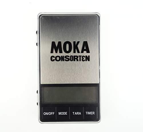 Moka Consorten | Kleine digitale Kaffeewaage mit Timer für Espresso und Filter | max. 1.000 gr | Baristawaage