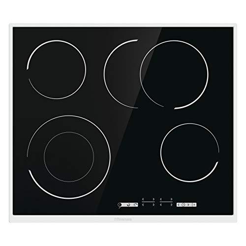 Hisense Cocina HiLight E6433X, temporizador, función Stop&Go, zona de asado, marco de acero inoxidable